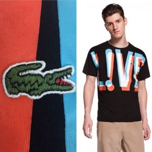 Lacoste Live 3-D Effect Fitted Tee Shirt